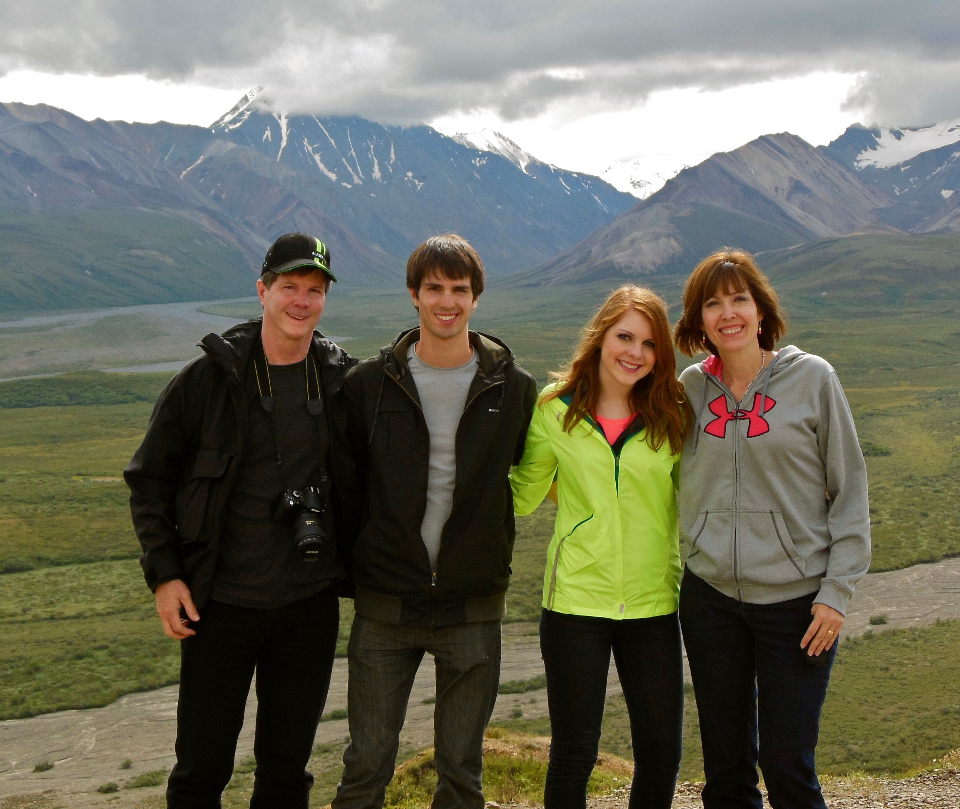 Picture of Pacha family in Alaska to show happy times together before suicide.