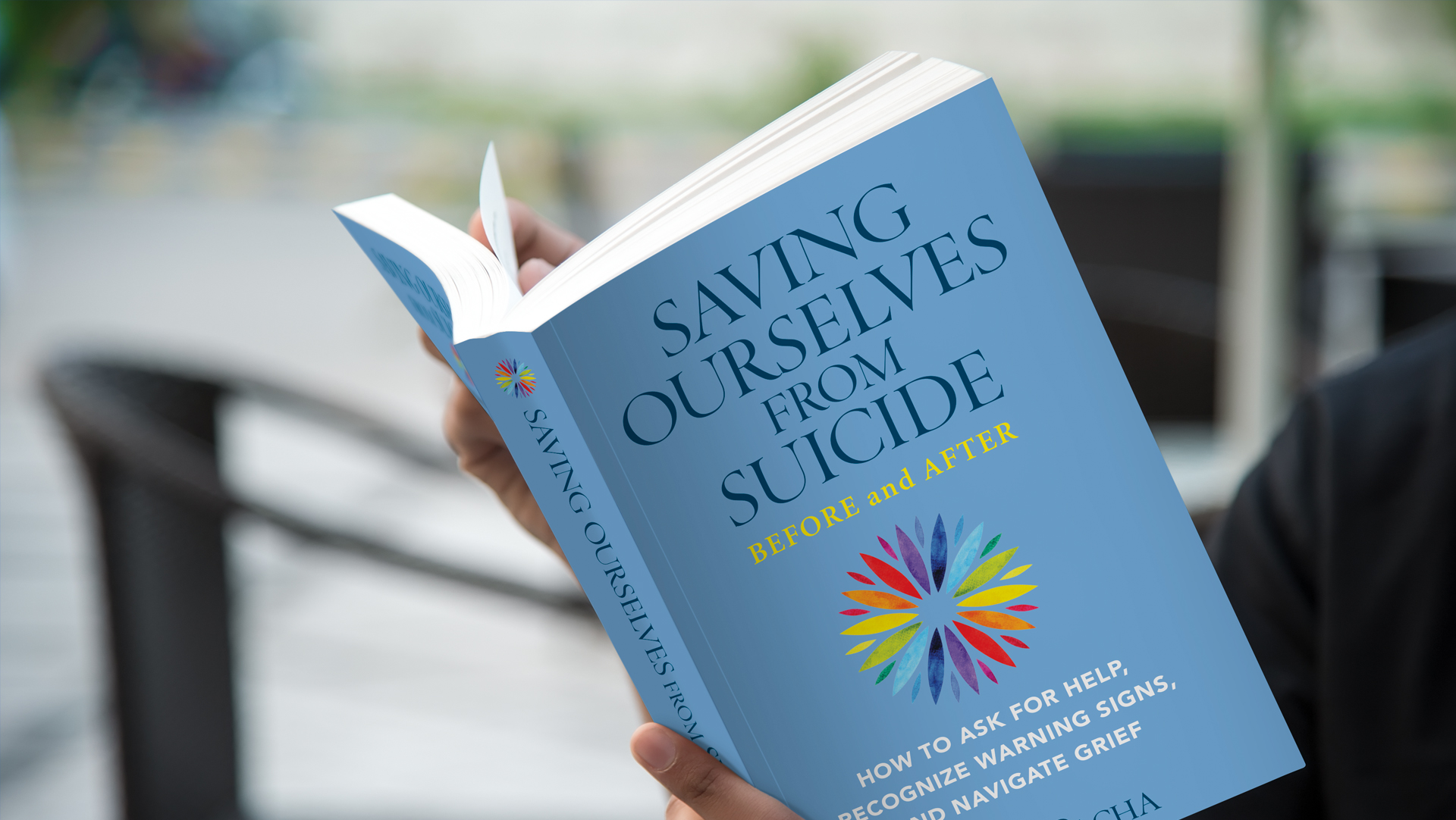 Image of Saving Ourselves from Suicide—Before and After, a suicide prevention book for the book launch and signing