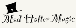 Logo of Mad Hatter Music with top hat