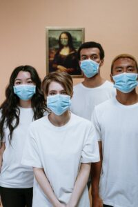 Picture of Four nurses wearing masks